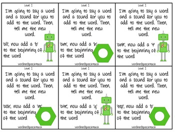 Robot Phonological Awareness