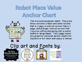 Robot Place Value Anchor Chart