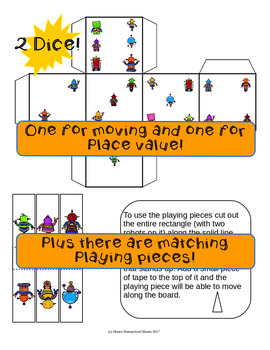 Robot Place Value Game - Level 1 for Practicing Ones to Hundreds Place