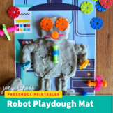Robot Playdough Mat, STEM, Fine Motor, Sensory, Pre-K-Kind