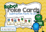 Robot Poke Cards (Subtraction to 20)