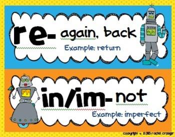 Robot Prefix/Suffix Posters