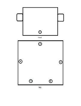 Robot Printable Craft - Past, Present, Future Unit