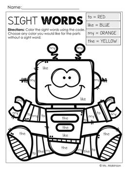 Robot Printables - Literacy & Math