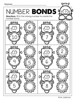Robot Printables - Literacy & Math