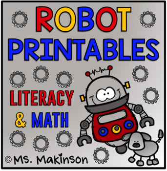photograph about Robot Printable named Robotic Printables - Literacy Math