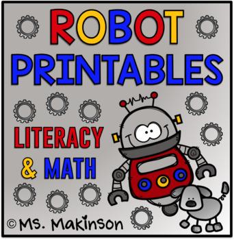 photo relating to Robot Printable identify Robotic Printables - Literacy Math