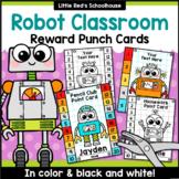 Robot Punch Cards Editable Classroom Decor