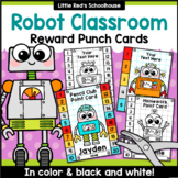 Robot Punch Cards Editable Classroom Decor