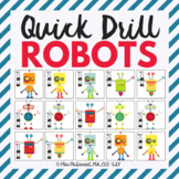 Quick Drill Robot Game {for speech therapy or any skill drill}