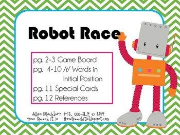 Robot Race: Articulation Game for Initial /r/