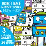 Alphabet Beginning Sounds Game - Robot Race