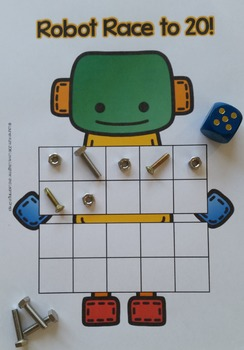 Robot Race to 10 or 20! A ten frame counting game for your little learners