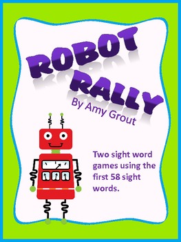 Robot Rally: Sight Words Literacy Center