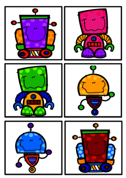 Robot Reading group display charts