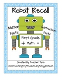 Robot Recall: First Grade Addition and Subtraction Fluency Activity