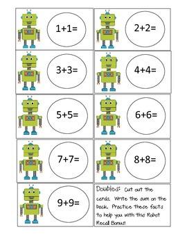 Robot Recall Math Bonus (FREE supplement pack)