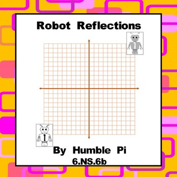 Robot Reflections on the Coordinate Grid- CCSS 6.NS.6b