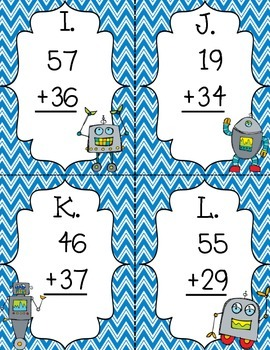 Robot Regrouping 2-Digit Addition