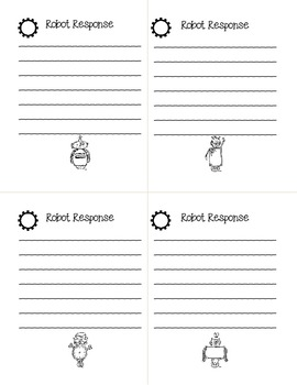 Robot Response Exit Tickets Freebie