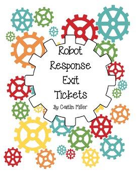 Robot Response Exit Tickets Freebie