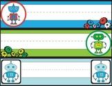 Robot (Robotics) Name Plates - STEM - Classroom Decorations