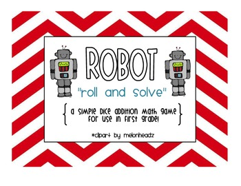 "Robot ""Roll & Solve"" Math Game"