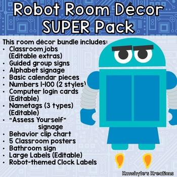 Robot Room Decor SUPER Pack