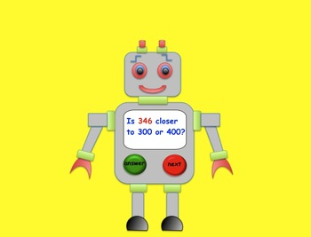 Robot Rounding Game (Interactive Smartboard Lesson) Gr. 3