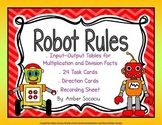 Robot Rules Multiplication and Division Input-Output Table