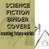 Robot Science Fiction Writing prompt folder binder cover