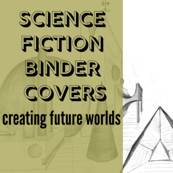 Robot Science Fiction Writing prompt folder binder cover