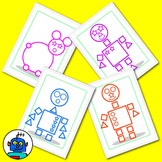 Robot Shape Guess Counting Game