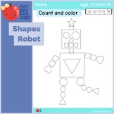 Robot Shapes - Count and Color the shapes