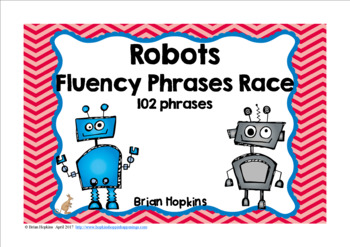 Robot Sight Word Fluency Phrases Race