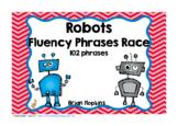 Robot Sight Word Fluency Phrases Race