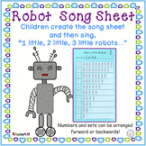Robot Counting Song Sheet FREEBIE