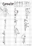 Robot Symmetry Drawing Art Worksheet Printable DISTANCE LEARNING