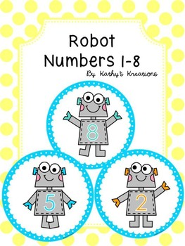 Robot Table/Group Numbers 1-8