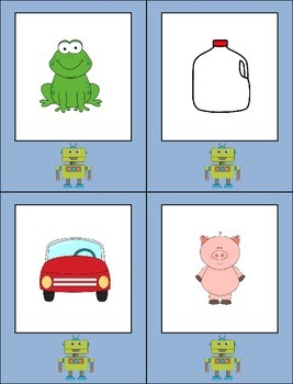 Robot Talk Segmenting and Blending Activity Flash Cards