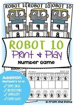 Robot Ten - Addition Game