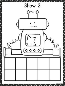 Robot Ten Frame Counting Mats 1-10 & Bonus Add The Room