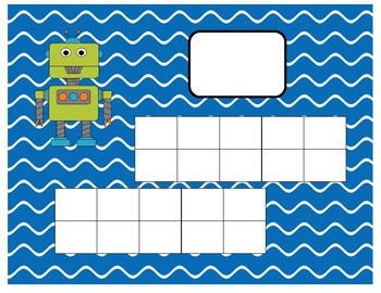 Robot  Ten-Frame Mats Numbers 1-20