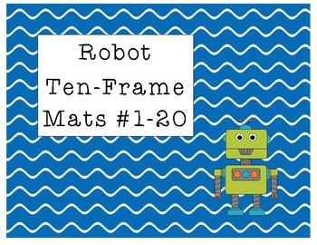 Robot  Ten-Frame Mats Numbers 1-20