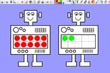 Robot Ten Frames Activinspire Flipchart for Interactive Whiteboard