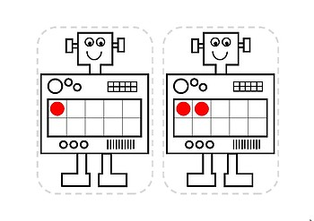 Robot Ten Frames lge