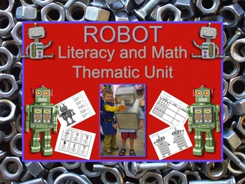 Robot Thematic Literacy and Math Unit PRINT & GO and SO MU