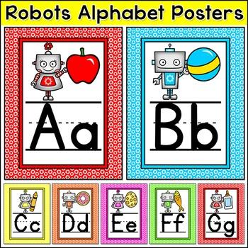 Robot Theme Alphabet Posters