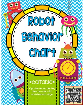 Robot Theme Behavior Chart System *editable*