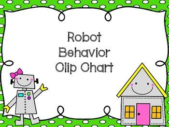 Robot Theme Behavior Clip Chart (choice 2)